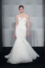 MARK ZUNINO Sweetheart Mermaid Gown in Silk Chiffon