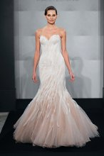 MARK ZUNINO Sweetheart Mermaid Gown in Silk Organza