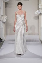 PNINA TORNAI Sweetheart Sheath Gown in Silk Charmeuse