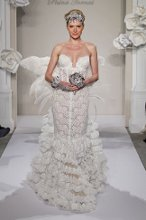 PNINA TORNAI Sweetheart Sheath Gown in French Lace