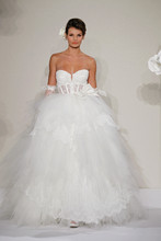 Sweetheart Ball Gown in Chantilly Lace This ball gown features a sweetheart neckline with a natural waist in chantilly lace and tulle. It has a cathedral train. This gown is Exclusive to Kleinfeld Bridal. Style Number:32614216