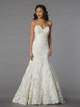 Danielle Caprese for Kleinfeld Style 113068  <br /> Off White, beaded lace fit and flare