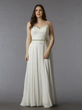 Dina Davos for Kleinfeld Style KW111J  Off White, lace sheath