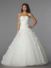 Mark Zunino Style 74533  Off White, tulle beaded embroidered ball gown