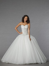 Pnina Tornai Style 4308  <br /> Off White, tulle beaded ball gown
