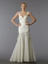 Pnina Tornai Style 85  <br /> Off White, lace sheath