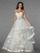Pnina Tornai Style 4310  Off White, organza beaded ball gown