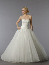 Pnina Tornai Style 84  Off White, lace and tulle ball gown