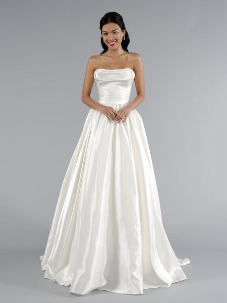 Kleinfeld Off-the-Shoulder Long Bridesmaid Dress   Kleinfeld Bridal Wedding Dresses