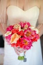 220x220 1377534210062 diamondcustomfloralcoralpeonybouquet