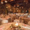 Reception hall for autumn mountain wedding.