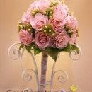 130x130 sq 1377629954756 cold porcelain art   weddings   pink rose with mini buds bouquete 2