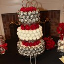 Three Tier Cake Pop cake holding 200 individual Cake pops in Red Velvet, Vanilla Dream and Death by Chocolate.