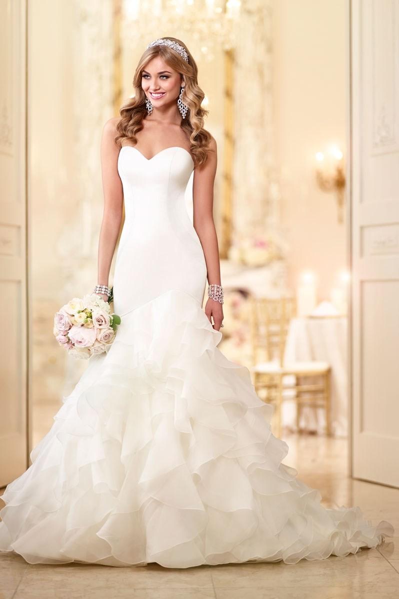 Formal hip modern modest ivory white 701 to 1500 for Stella york wedding dresses near me