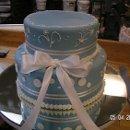 130x130 sq 1357603753927 bluewhitepolkadotcake