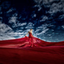 130x130 sq 1467829198860 red wedding dress
