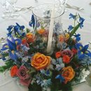 130x130 sq 1309989502421 blueweddingcenterpiece