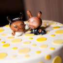 130x130 sq 1426456451359 cake with kid robots of bride and groom