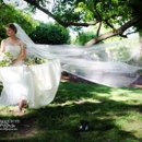 Whimsical bridal portrait with a romantic touch.