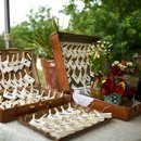 Caterer: Big Bang Catering Event Planner: JA Special Events & Weddings Floral Designer: Sweet Pea Flowers Reception Venue: Pastures of Plenty