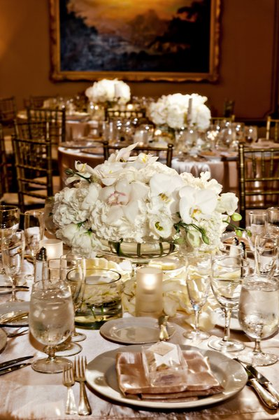 Gold Ivory Centerpiece Centerpieces Wedding Flowers Photos Pictures