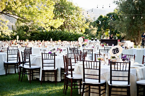 Fall Garden Outdoor Reception Spring Summer Wedding