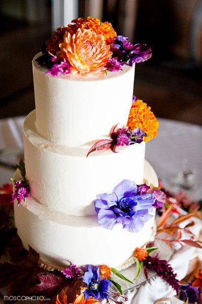 Orange Purple Fall Round Wedding Cakes Photos & Pictures ...