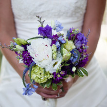 220x220 sq 1468351116044 purple and white bouquet 043