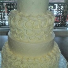 220x220 sq 1483851023336 rossette wedding cake1