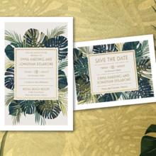 220x220 sq 1457115016227 960x720 wedding trend palm leaf gold
