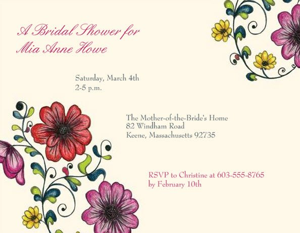 Vistaprint Invitations Wedding: 1328630882308 Flowers Wedding Invitation
