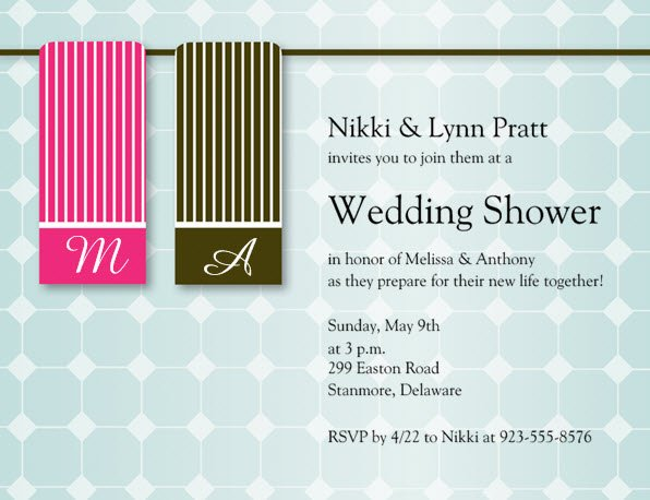 1328630927292 Towels Waltham wedding invitation