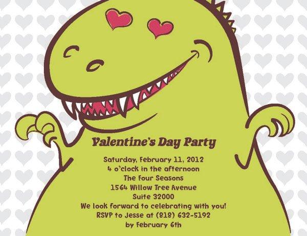 1328631579667 6461735X4InvVDayDinosaurusFun Waltham wedding invitation