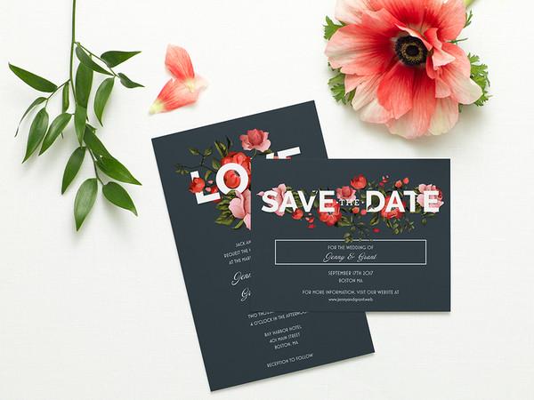 1457115000374 960x720 Wedding Trend Floral 1 Waltham wedding invitation