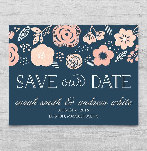 1458563746618 Blue Flowers Std Waltham wedding invitation