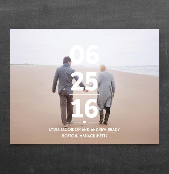 1458563773181 Focus On Date Std Waltham wedding invitation