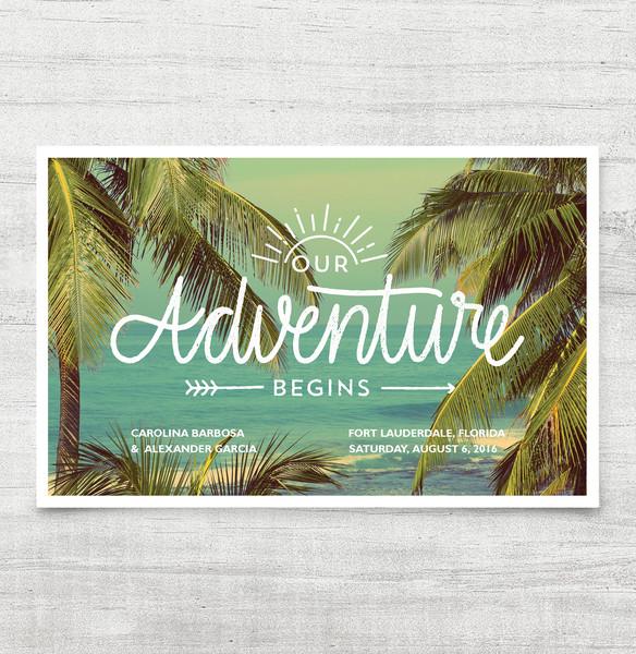 1458564821261 Adventure Invitation Waltham wedding invitation