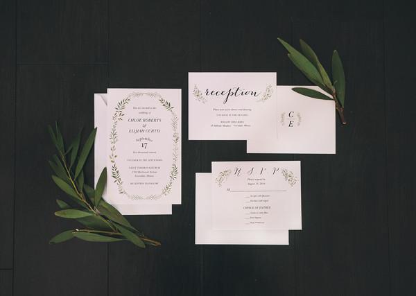 1461084469032 Green Botanicals Wedding Set Waltham wedding invitation