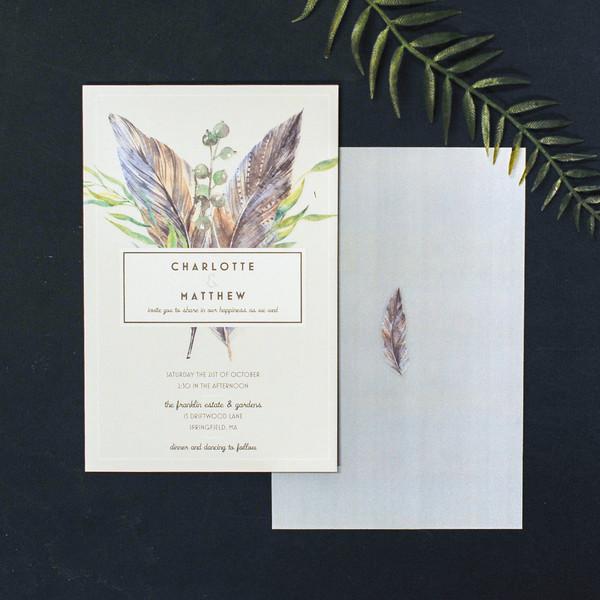 1488378227645 Elizabeth Feather Waltham wedding invitation