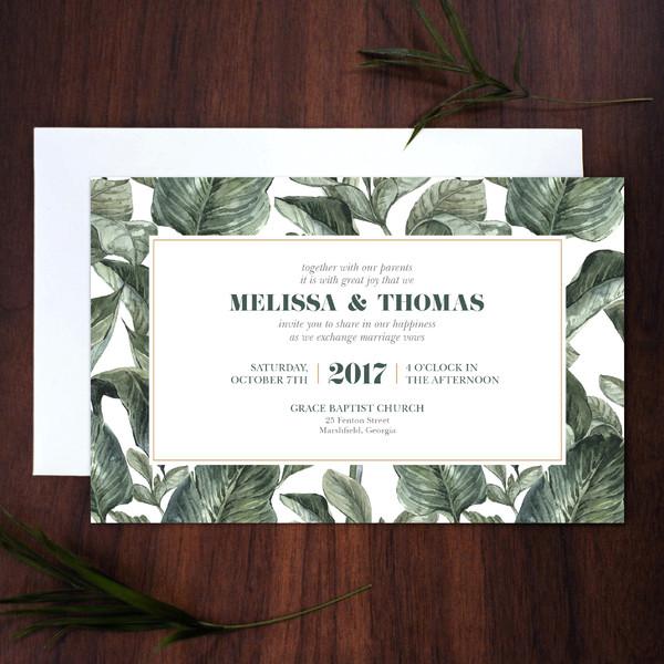 1488378266278 Invite Banana Leaf Waltham wedding invitation