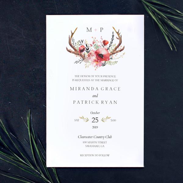 1488378304635 Jen Antler Florals Waltham wedding invitation
