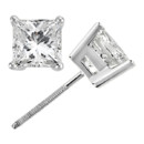 Princess Cut Diamond Stud Earrings Make her feel like a real princess with our square cut gold stud earrings, available from 0.25ct to 3.00ct in any style.