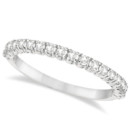 Semi-Eternity Pave Set Diamond Stacking Ring Fancy enough for a wedding, stylish enough for every day. 19 round cut diamonds in gold, palladium, or other metals.