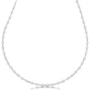 3.00ct Diamonds by The Yard Eternity Necklace More than sixty diamonds dazzle the eye in this diamond station necklace in yellow, white, or rose gold, or other metal.