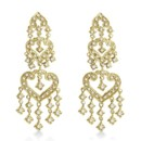 Bridal Dangling Chandelier Diamond Earrings 1.01ct Our vintage dangle drop earrings are available in 14k white, yellow & rose gold, & showcase 50 sparkling round diamonds.