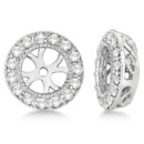 Vintage Round Cut Diamond Earring Jackets Each vintage jacket holds 30 round colored or colorless diamonds & is available for different size studs in 14k gold.