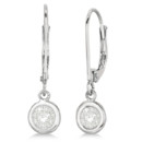 Leverback Dangling Drop Diamond Earrings Each diamond is lovingly bezel set for these earrings, available from 0.20ct to 1/2ct in 14k white, yellow, & rose gold.