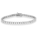 Eternity Diamond Tennis Bracelet You'll look stunning in this fancy tennis bracelet, available from 1.00ct to 10.00ct in white, yellow, and rose gold.