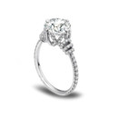 Danhov platinum Eleganza single shank diamond engagement ring.