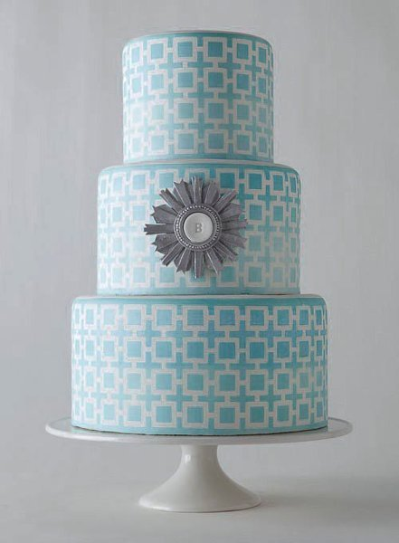 Blue Wedding Cakes, Wedding Cakes Photos by Erica OBrien ...